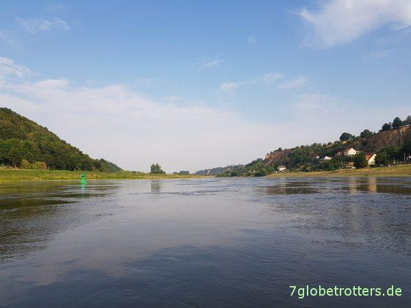 Wanderpaddeln obere Elbe: Im Luftboot ohne Wetterschutz von Meißen nach Riesa