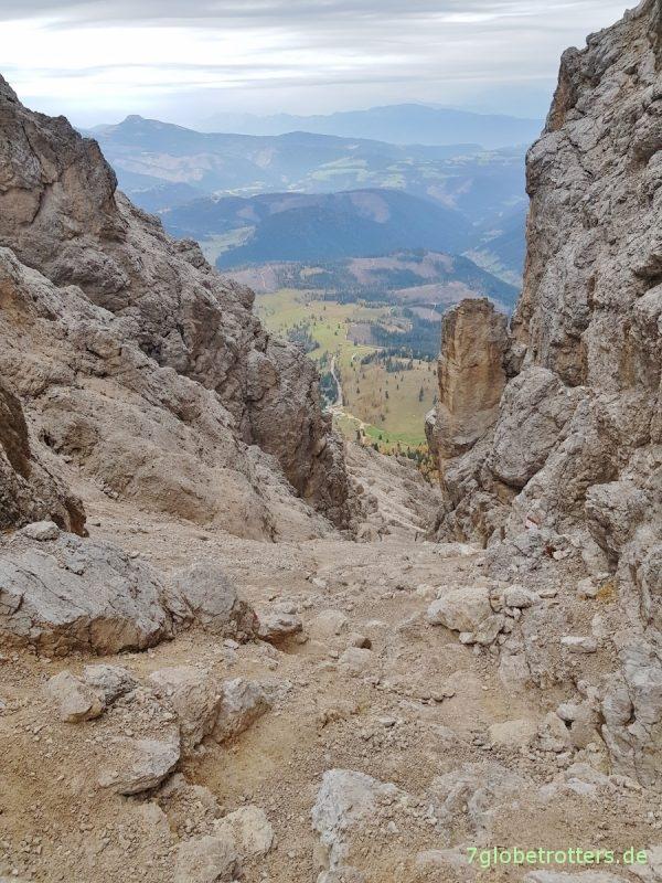 Dolomiten: Klettern über das Tschager Joch im Rosengarten
