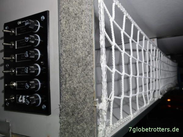 Möbelbau im Wohnmobil, Hängeschränke mit Netzen