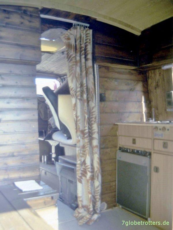 Möbelbau im Wohnmobil aus Brettern mit Nut und Feder
