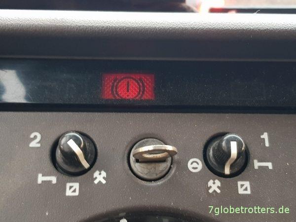 Unterdruckanlage Mercedes T2-LN1 Baumuster 669 prüfen Kontrolleuchte Bremse