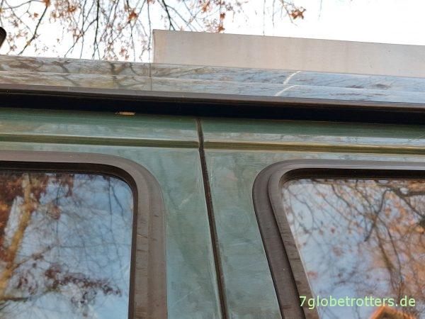 Isolierfenster im Campervan Fensterbus selbst bauen mit Solarplexius Tönungsscheiben mit ABE