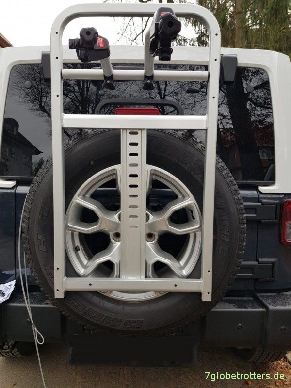 Heck-Skiträger Jeep Wrangler JKU aus Fahrradträger bauen
