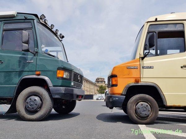 Mercedes T2/LN1: Technische Daten, Unterschiede Motor, Getriebe, Achsen 609, 711, 814
