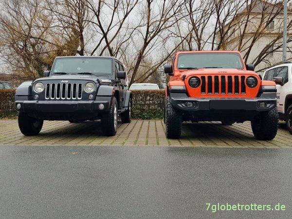 Umbereifung Jeep Wrangler JK und JL: Vergleich 255/70 R18 zu BF Goodrich 285/70 R17