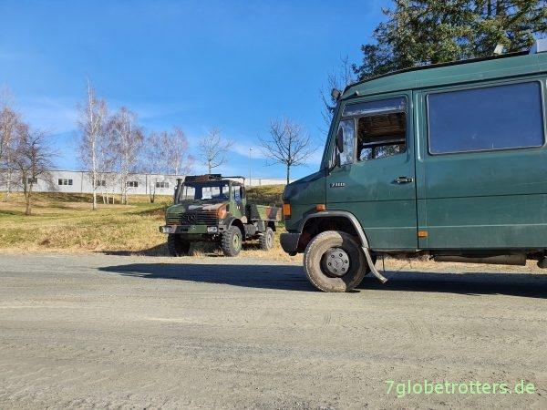 Unimog U1300L Bundeswehr und MB 711 D BGS