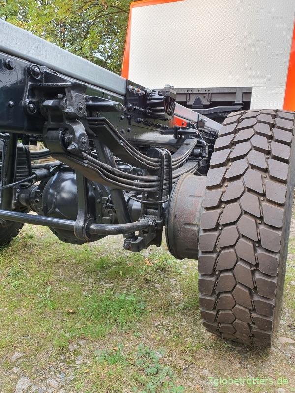 Mercedes 1222 AF, Umrüstung auf Einzelbereifung mit stabiler Hinterachse