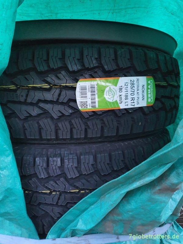 Nokian Rotiiva AT plus 285/70 R17 als Winterreifen für den Jeep Wrangler