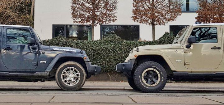 Umbereifung Jeep Reifen 255/70 R18 vs. 285/70 R17