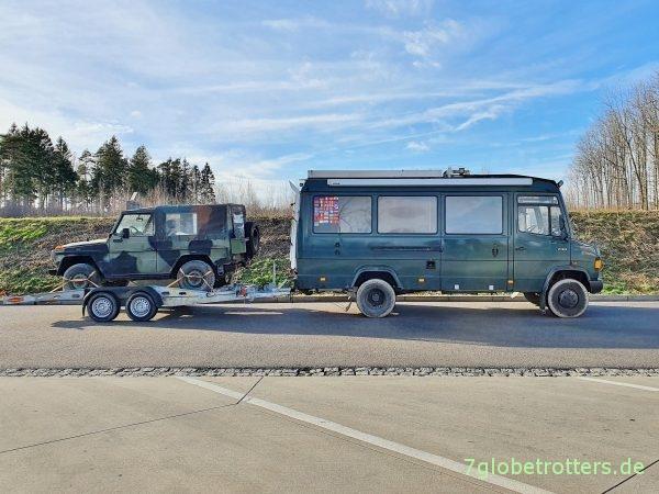 80 km/h Höchstgeschwindigkeit mit PKW-Anhänger am Wohnmobil