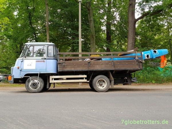 Robur LD 3004 Pritsche im Einsatz