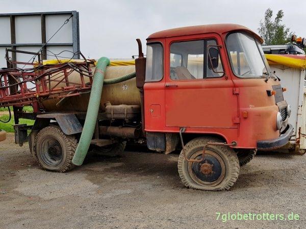 Robur LO 2002 A Landwirtschaft mit Aufbauspritze