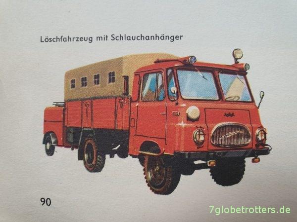 Robur LO 1800 A als Löschfahrzeug, entn. aus: Von Anton bis Zylinder, S. 90