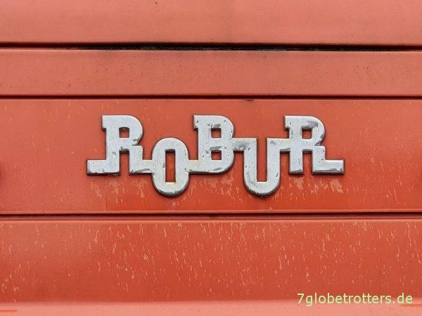 Robur-Schriftzug seit 1957
