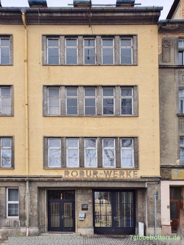 Robur-Werke Zittau, Haupteingang Bahnhofstraße