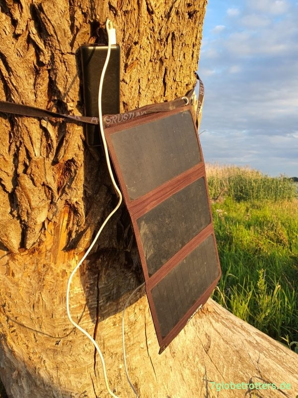 Mobile Outdoor-Stromversorgung mit Anker Powerbank + Solarladegerät