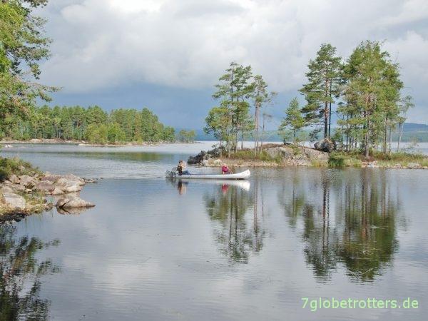 Kanadier als robuste Aluminiumboote zum Mieten in Schweden