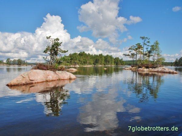 Ein Traum mit eigenem Familien.Kanu: Paddelrevier in Schweden