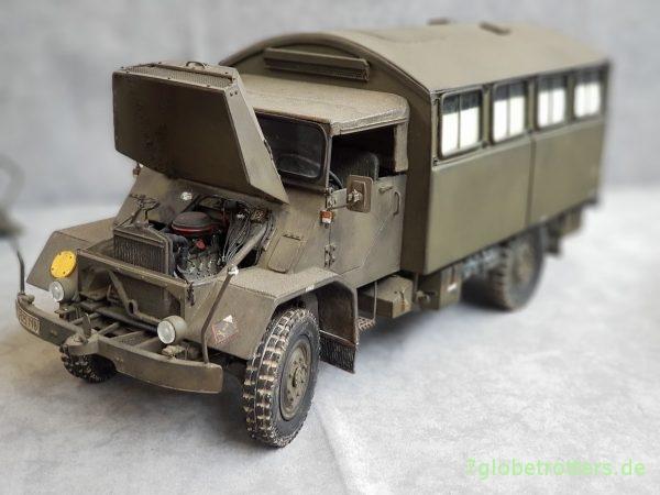 MAN 630 Emma der Bundeswehr mit Einheitskoffer, Modell in Munster