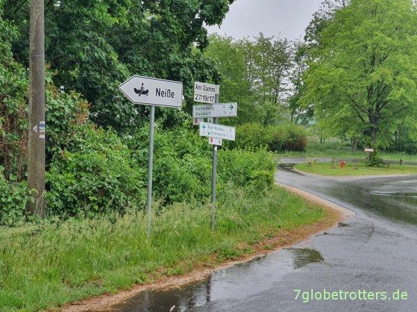 Paddeln im Regen auf der Neiße: Klein Priebus-Podrosche-Pechern-Bad Muskau