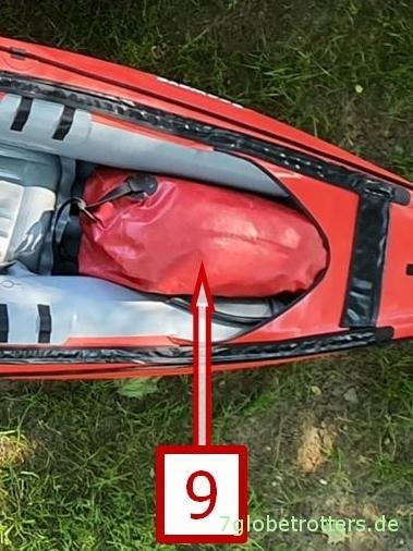2er/3er Wanderkajak beladen: Wasserdichte Ortlieb-Taschen fürs Paddelgepäck