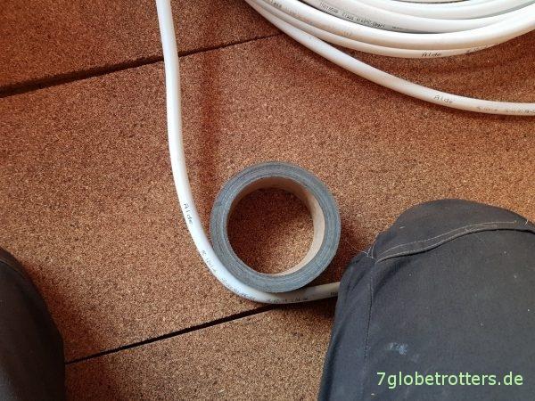 Biegen des Alde-Alu-Rohrs für die Fußbodenheizung von Hand