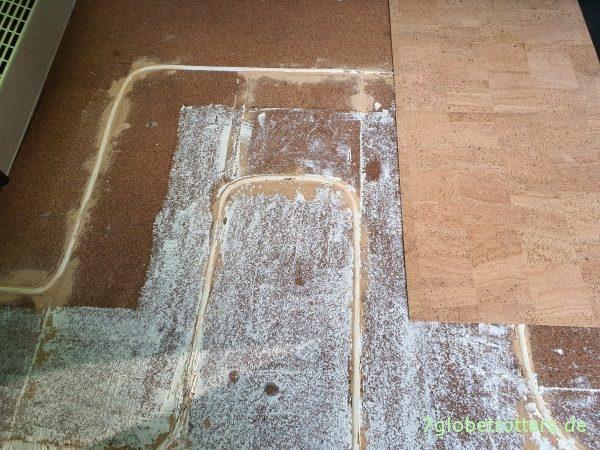 Corkoleum auf der Fußbodenheizung im Wohnmobil verkleben