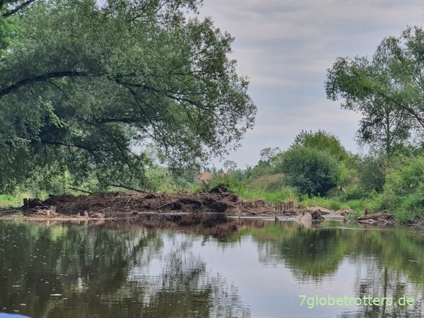 Paddeln auf der Neiße vom Wehr Groß Gastrose über Gruben zur Mündung in die Oder bei Ratzdorf