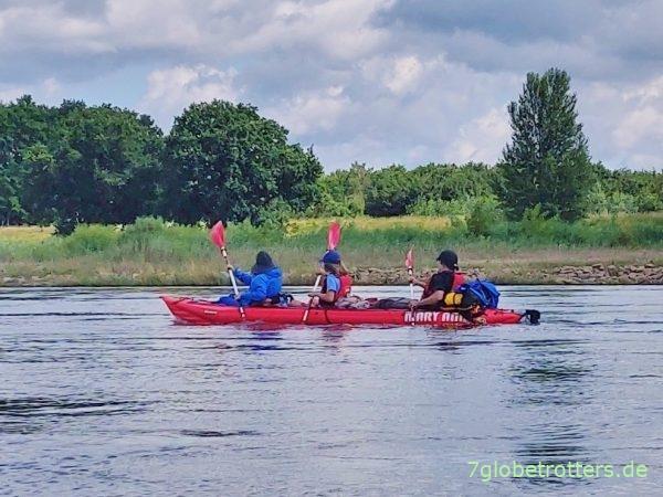 Paddeln mit Kindern auf der Oder zwischen Kloppitz, Eisenhüttenstadt, Frankfurt und Lebus