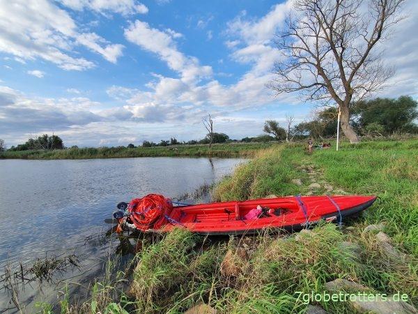 Paddeln auf der Oder von Lebus über Küstrin nach Kienitz