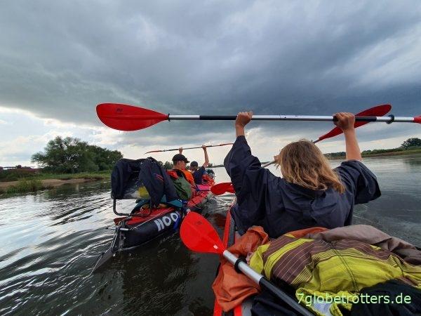Mündung der Lausitzer Neiße in die Oder