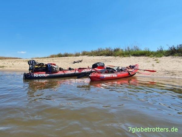 Ausrüstung und Packliste beim Wasserwandern, Gumotes Seawave und Grabner Riverstar