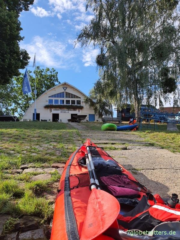 Mittelelbe im Kajak: Gegen den Wind durchs Biberreservat Aken