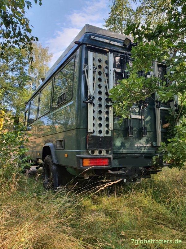 Mit dem Wohnmobil ins Erzgebirge, Stellplatz am Fluss