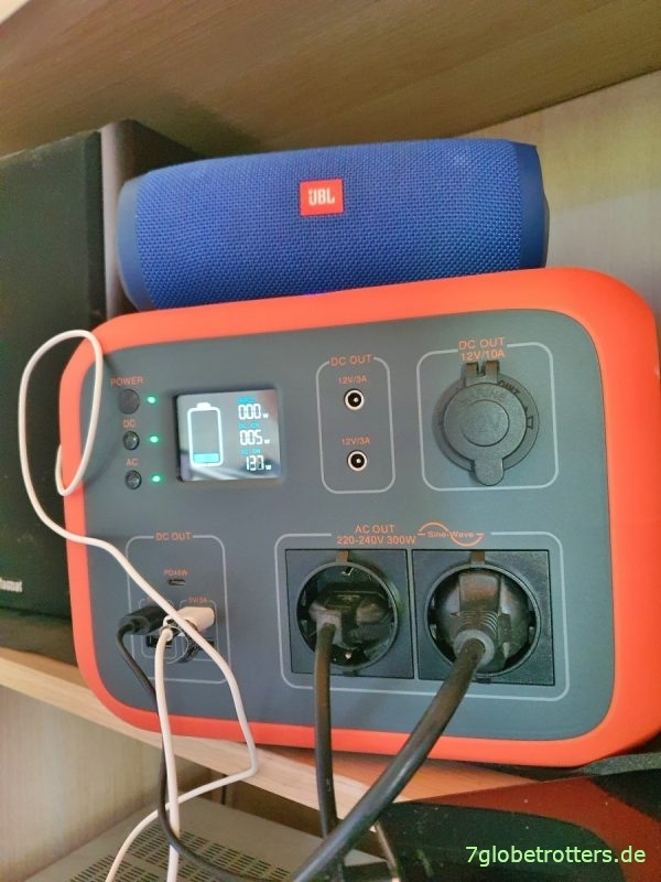 Mobile Stromversorgung im Camper, 230 V Test