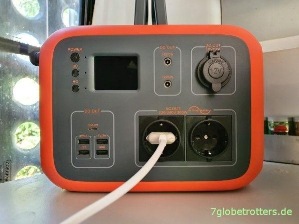 Mobile Stromversorgung im Camper 230 V in Busküche