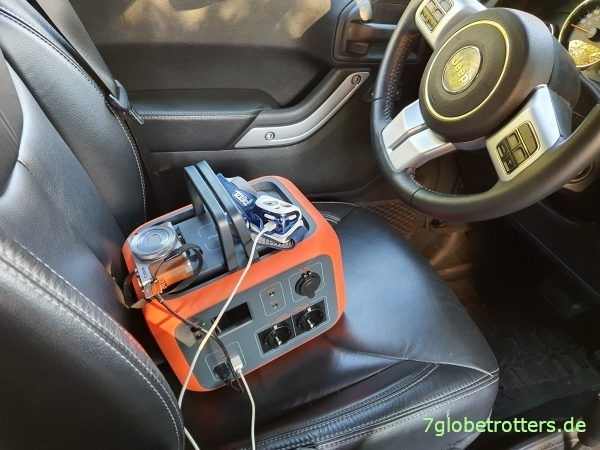 Mobile Stromversorgung im Camper, Akkubox im Jeep