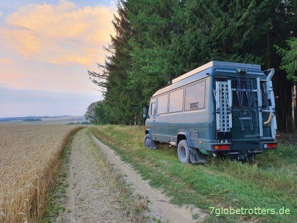 Mercedes 711 im Erzgebirge 2020