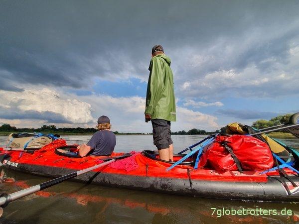 Test im Grabner Riverstar: Hinstellen mitten auf dem Fluss