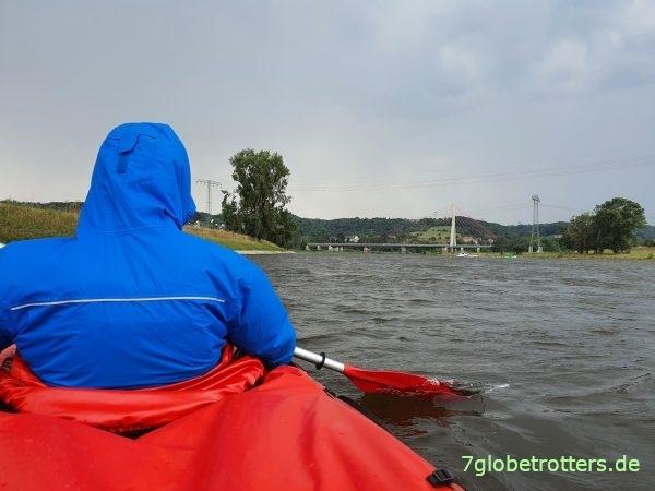 Paddeln auf der Elbe von Dresden zum Kanuclub Meißen