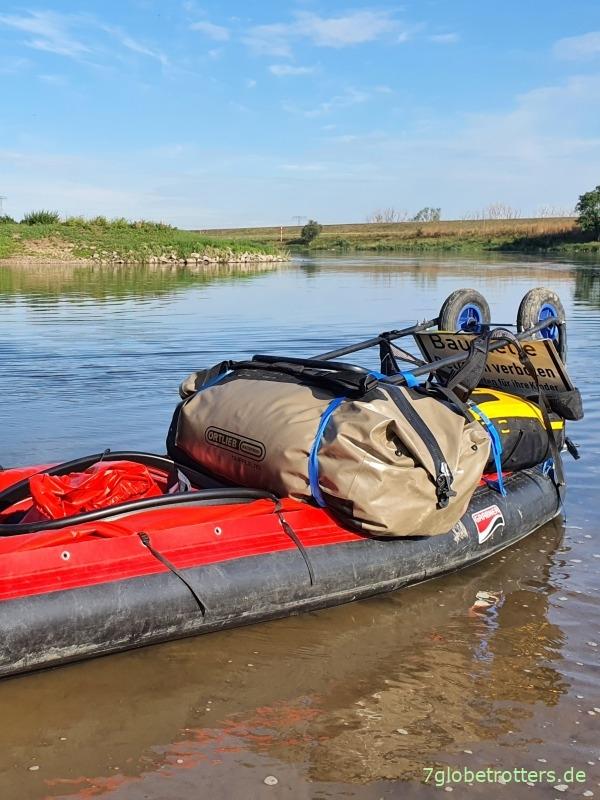 Das Grabner Riverstar bietet im Test genug Platz für Gepäckauf dem Verdeck