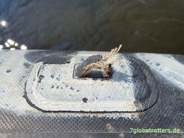 Probleme mit einer gerissenen Halteschlaufe am Grabner Riverstar