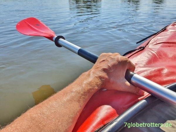 Die Paddel fürs Grabner Riverstar sollten 240 cm lang sein (Moll Playa 2)