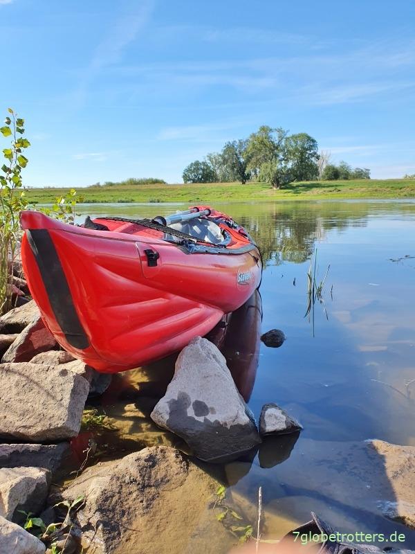 Traumhaftes Paddeln auf der Elbe