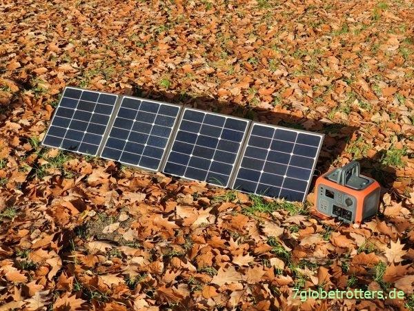 Test des faltbaren Solarpanels 120 W