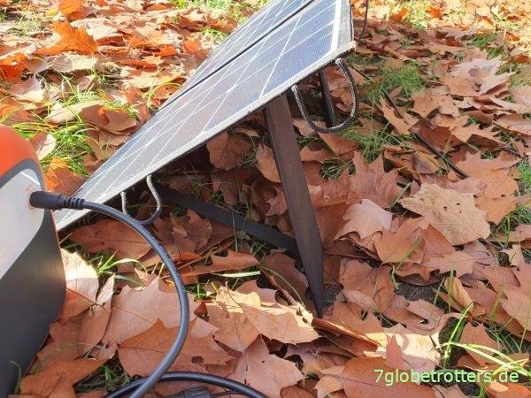 Aufbau des faltbaren Solarpanels 120 W