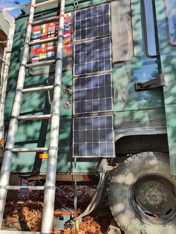 Faltbares Solarpanel 120 W Test im Wohnmobil, bester Montageort Photovoltaik