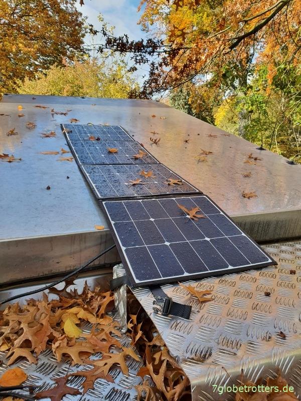 Faltbares Solarpanel Test Aufbau Module