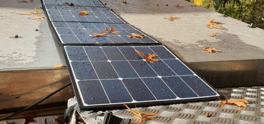 Faltbares Solarpanel Test Wohnmobil