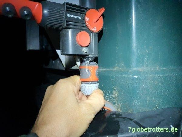 Außendusche entwässern beim Wohnmobil einwintern